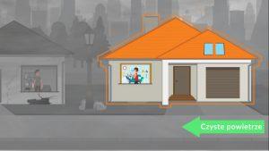 Fragment animacji, którazdobyła Imiejsce, pt.Termomodernizacja wyjdzie Ci nadobre - autorstwa Mateusza Kołodzieja
