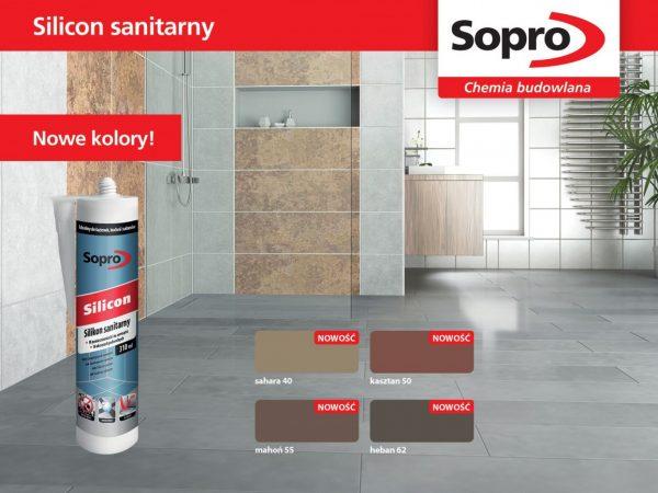 Sopro Silikon Sanitarny – nowe kolory